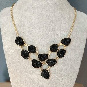 Sugarfix by BaubleBar black druzy necklace